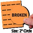 Broken Ladder Safety Labels in Sheet