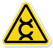 Carcinogen Symbol, ISO Triangle Warning Sticker