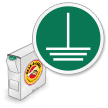 ISO Connect Earth Terminal Ground Grab-a-Labels Dispenser Box
