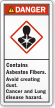 Contains Asbestos Fibers Cancer Hazard Label