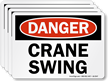 Crane Swing OSHA Danger Label