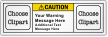 Custom ANSI Caution Label With 2 Pictos
