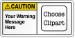 Custom Text ANSI Caution Label