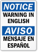 Customizable Bilingual OSHA Notice Label