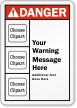 Customizable ANSI Danger Message Multiple Clipart Label