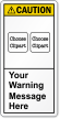Customizable Text ANSI Caution Label