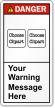 Customizable Text ANSI Danger Label