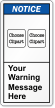 Customizable ANSI Notice Label