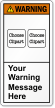 Customizable ANSI Warning Label