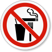 Do Not Eat, Drink Or Smoke ISO Label