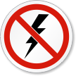 ISO Electric Shock Prohibition Safety Symbol Label