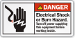 Electrical Shock Or Burn Hazard ANSI Label