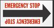 Emergency Stop Arrow Label
