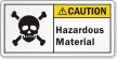 Hazardous Material ANSI Caution Label