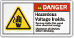 Hazardous Voltage Inside Discharge All Devices Danger Label