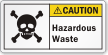 Hazardous Waste ANSI Caution Label