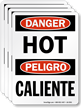 Hot Caliente OSHA Danger Label