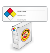 NFPA Mini Paper Hazard Labels with Chemical Name