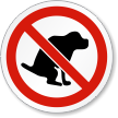 No Dog Poop ISO Prohibition Safety Symbol Label
