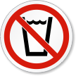 No Drinking ISO Prohibition Safety Symbol Label