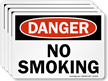 No Smoking OSHA Danger Label