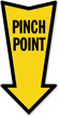 Pinch Point Arrow Shape Label