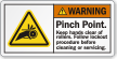 Pinch Point Keep Hands Clear Of Rollers Label
