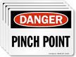 Pinch Point OSHA Danger Label