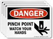 Pinch Point Watch Your Hands Label With Graphic