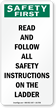 Read Follow All Safety Instructions On Ladder Label