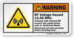 RF Voltage Hazard 13.56 Mhz. Disconnect Lock-Out Label