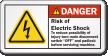 Risk Of Electric Shock Padlock Machine Danger Label
