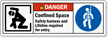 Confined Space Safety Banners And Lifeline Required Label