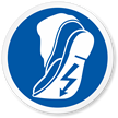 Use Anti-Static Footwear Symbol, ISO Mandatory Action Label