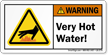 Very Hot Water ANSI Warning Label