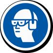 Wear Goggles, Ear Muffs ISO Mandatory Label