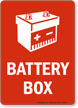Battery Box Sign