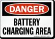 Danger Battery Charging Area Sign