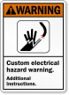 Custom Electrical Hazard ANSI Warning Sign
