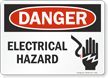 Danger Electrical Hazard Sign