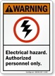 Warning (ANSI) Electrical Hazard Sign