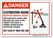 Danger Electrocution Hazard Death Injury Sign