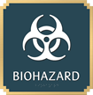 Biohazard, with Graphic and Braille