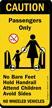 Caution Passengers No Bare Feet Hold Handrail