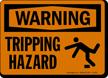 Warning Tripping Hazard Sign