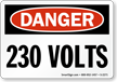 Danger: 230 Volts