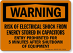 Warning Risk of Electrical Shock Sign