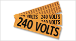 Voltage Marker Labels