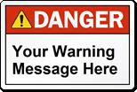 Danger Safety Label
