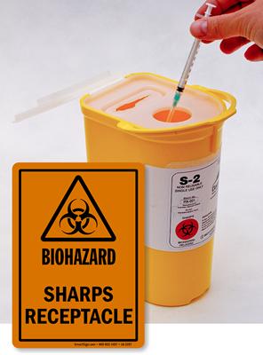 Sharps Blades Safety First Sign